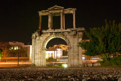 The Arch of Hadrian. Is the Roman Triumphal Arch in Athens, Greece Royalty Free Stock Photos