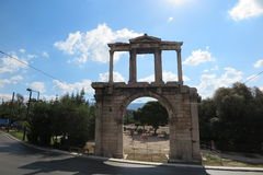 ARCH OF HADRIAN. / Hadrian`s gate in Athens, Greece Stock Image