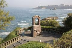 Arch on Headland, Biarritz Royalty Free Stock Images