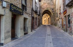 Arch in the historic center of Atienza Royalty Free Stock Photography