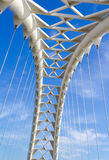 Arch on the Humber Bay bridge in Toronto Stock Photo