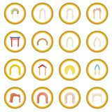 Arch icon circle Royalty Free Stock Photos