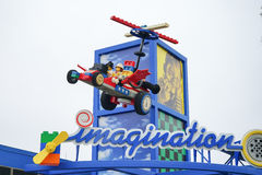 The arch of the imagination park in Legoland florida Stock Photo