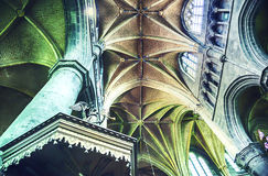 Arch In Belgian Gothic Church