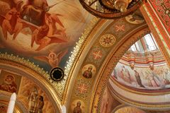Arch inside the Cathedral of Christ the Saviour. Moscow. 12.07.2 Stock Photography