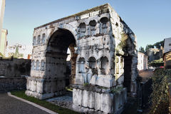 The Arch of Janus in Rome Stock Photos