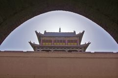 The arch of jiayuguan Stock Photography