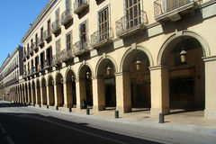 Arch in La Bisbal, Alt Emporda, Girona province,. Catalonia, Spain Stock Image