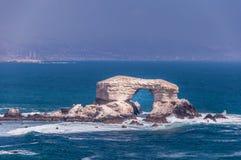 Arch of La Portada in Antofagasta, Chile. Natural Arch called La Portada in Antofagasta, Chile Stock Image