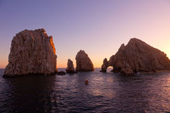 The Arch and Land's End, Cabo San Lucas, Mexico. The Beautiful Arch and Land's End at Sunset, Cabo San Lucas, Mexico Royalty Free Stock Images