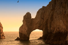 The Arch and Land's End at Sunset Stock Photo