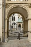 Arch in Landhaus courtyard. Arch in the courtyard of the renaissance building `Landhaus`, the seat of the state parliament of Styria in Graz, Austria Stock Photo