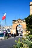 Arch leading to the marina, Vittoriosa. Royalty Free Stock Photos