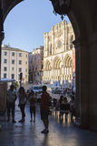 An arch leading to Plaza Mayor in Cuenca, Spain Stock Photos