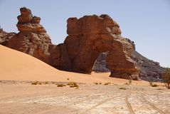 Arch in Libyan desert Stock Images