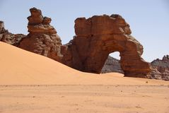 Arch in Libyan desert Royalty Free Stock Image