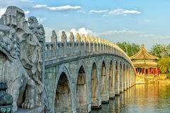 17 arch lion bridge Royalty Free Stock Photos