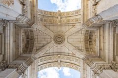 Arch in Lisbon, Portugal Stock Photos