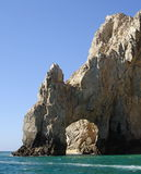 The Arch Los Cabos Landmark. The Arch is at the very tip of the Baja California Peninsular this is where the sea of Cortez meets the Pacific. A paradise for royalty free stock image