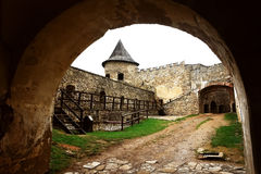 Arch of Lubovna Castle. stock images