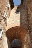 Arch made of bricks. At Citta della Pieve, Umbria, Italy Stock Image