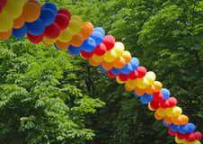 Arch made from colorful balloons Royalty Free Stock Image