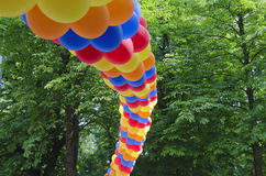 Arch made from colorful balloons Royalty Free Stock Photo