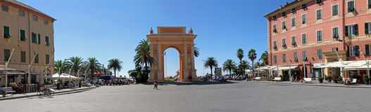 Arch of Margaret of spain in Finale Ligure Stock Photo