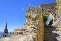 Arch in medieval chateau Royalty Free Stock Image