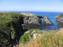The arch at Mendocino royalty free stock image