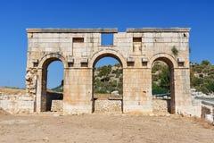 Arch of Mettius Modestus in ancient Lycian city Patara. Turkey Royalty Free Stock Photo