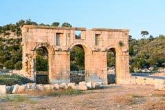 Arch of Mettius Modestus in ancient Lycian city Patara. Turkey Stock Photos