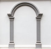 Arch molding on the wall Stock Photo