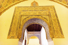 Arch Mosaic Ambassador Room Alcazar Royal Palace Seville Spain Royalty Free Stock Images