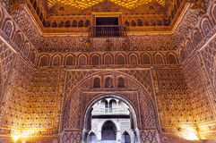 Arch Mosaics Ambassador Room Alcazar Royal Palace  Royalty Free Stock Image
