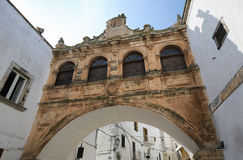 Arch near the Cathedral of Ostuni, Puglia, Italy Stock Photos