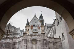 The arch of Neuschwanstein Castle Royalty Free Stock Photos