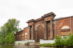 Arch of New Holland on the Moika River Stock Photos