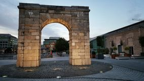 Arch at the Northern Docks of Dublin Royalty Free Stock Photo