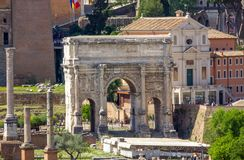 Free Arch Of Septimius Severus At The Roman Forum, Rome Stock Photography - 107662202