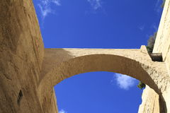 Arch in old city Valletta Stock Photography