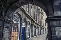 Arch in the old part of Edinburgh Stock Photos