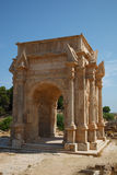 Arch in Old Roman Town Leptis Magna, Libya. Africa Stock Photography