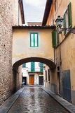 Arch on old street in Florence city in autumn Royalty Free Stock Image