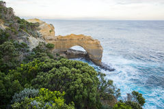 The Arch. One of the rock formations along the Great Ocean Road; located near the twelve apostles Stock Image