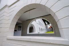 Arch openings of a walkway Stock Photos