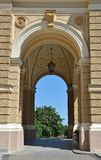 Arch of opera and ballet theater in Odessa Royalty Free Stock Photo