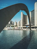 Arch over Toronto, Canada waterfront Royalty Free Stock Image
