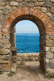 Arch overlooking the sea Royalty Free Stock Image