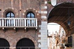 Arch in palazzo del podesta on piazza dei signori Royalty Free Stock Photography